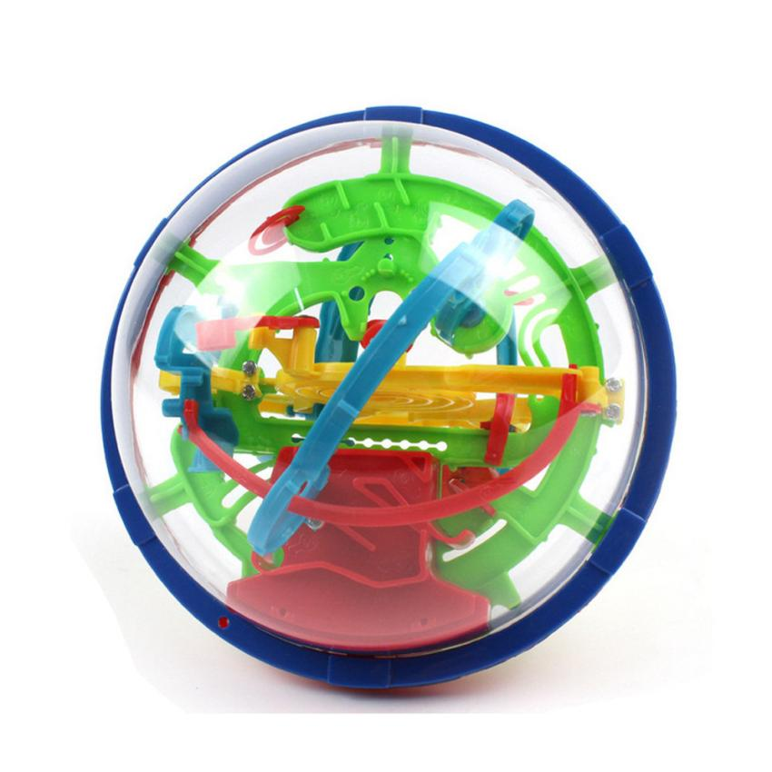 shaunyging # 4018 100 Barriers 3D Labyrinth Magic Intellect Ball Balance Maze Perplexus Puzzle Toy
