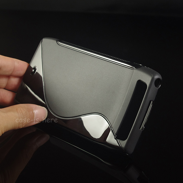 Soft S-Line Wave Anti-skid TPU Gel Case Skin for Motorola Droid Razr MAXX Verizon Mobile Phone Protective Rubber Matte Cover