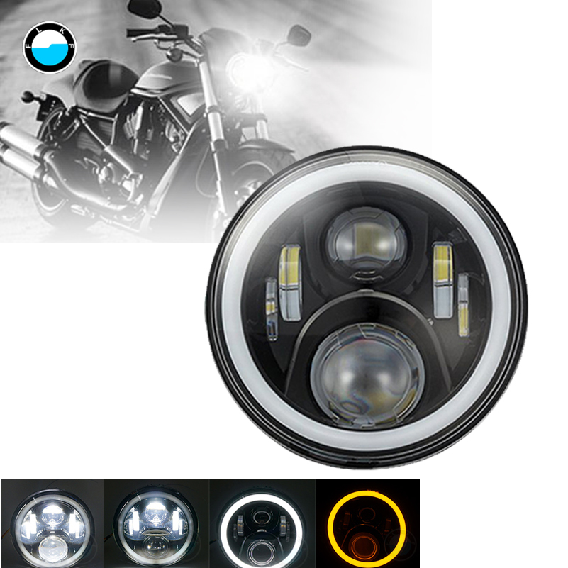 7 Round LED Headlight For Harley Davidson Motorcycle Projector Daymaker HID LED Light Bulb 7inch 60W LED motorcycle Headlight 7inch motorcycle daymaker replacement led headlight