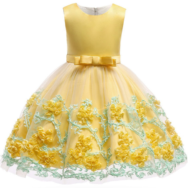 Baby Girl Embroidered Silk Dress