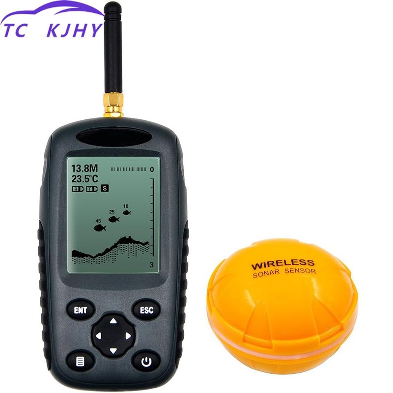 Détecteur de poisson en plastique sans fil GPS marin détecteur de bateau LCD détecteur de profondeur alarme sous-Marine sans fil détecteur de pêche HD visuel