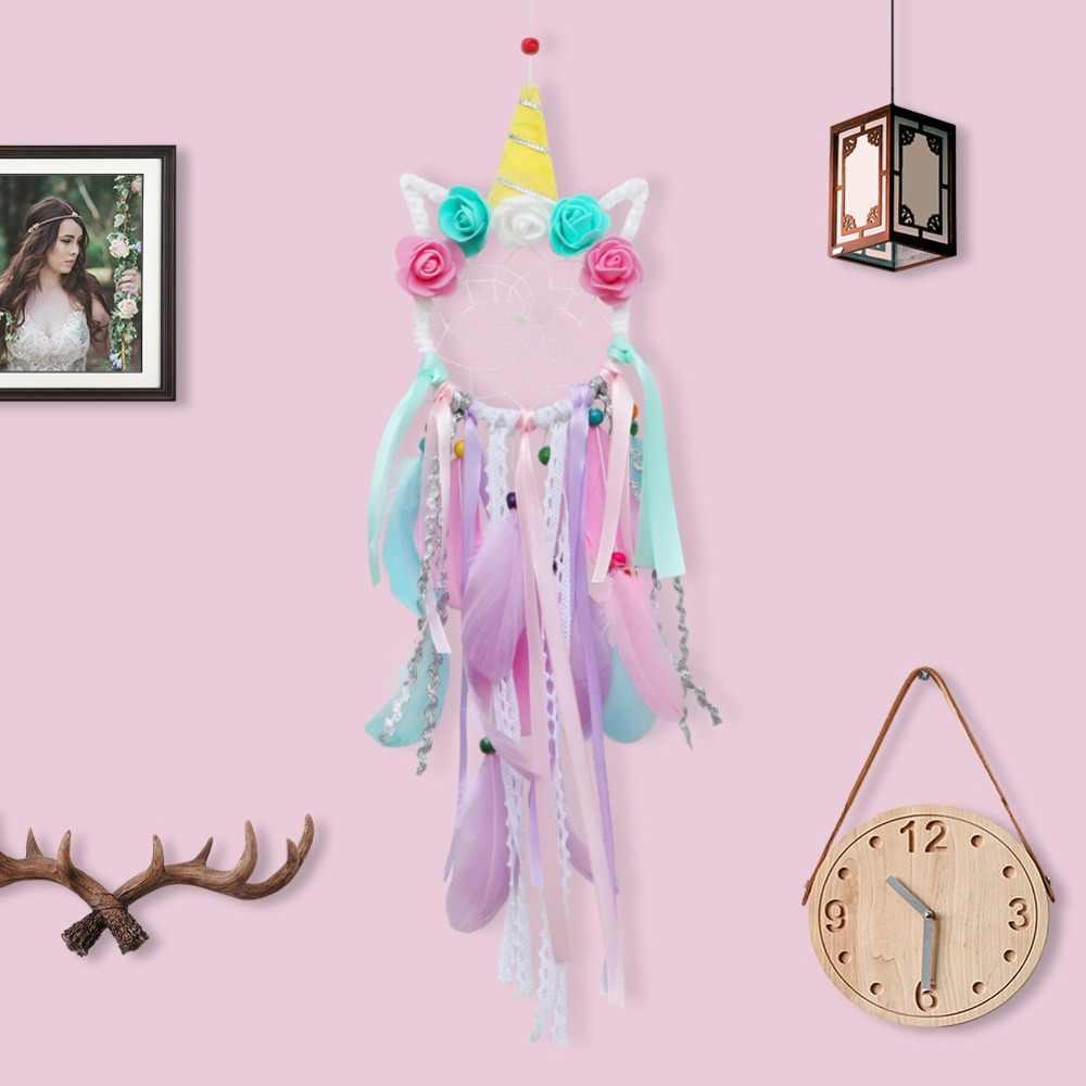 OurWarm Boho Ловец снов навесные украшения для дома Единорог Луна сова цветок украшения Свадебная вечеринка подарок для гостей