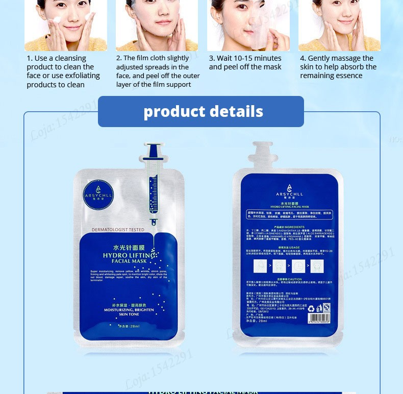 Hyaluronic acid natural silk moisturizing facial masks woman cleansing purifying pores acne whitening face skin care beauty mask 23