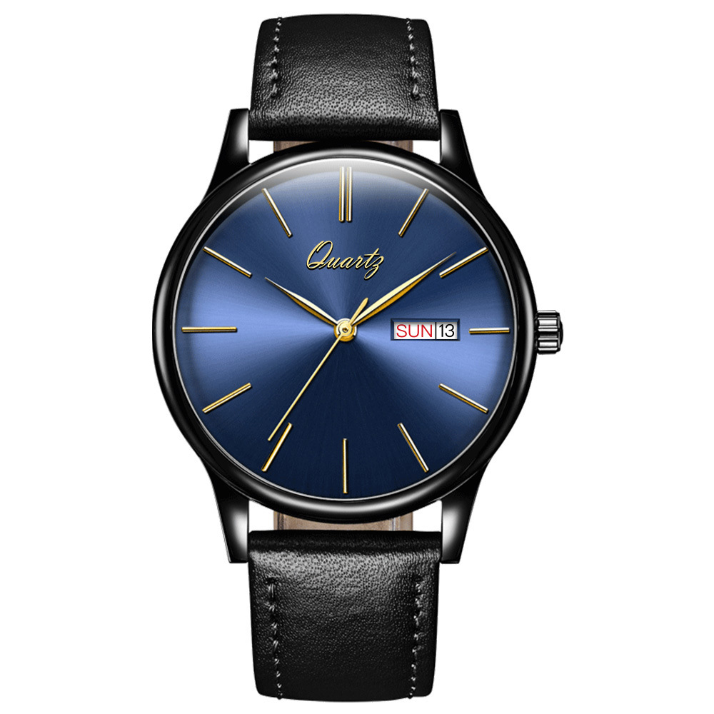 Relogio Masculino 2018 Brand New Luxury Watch Men Fashion casual Waterproof Quartz Watches Genuine Leather Wristwatches Hot Gift