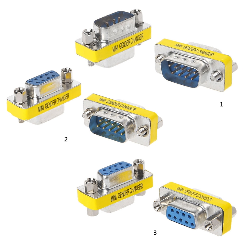 10 Pack 25Ft DB9 F//F Null Modem Cable GOWOS