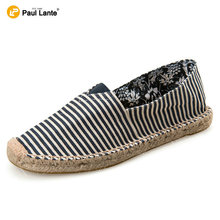 New Summer season Unisex Girls's Informal Canvas Loafers Gingham Flat Sneakers Vogue Sneakers Breathable Pure Jute Espadrille Shoe Sole