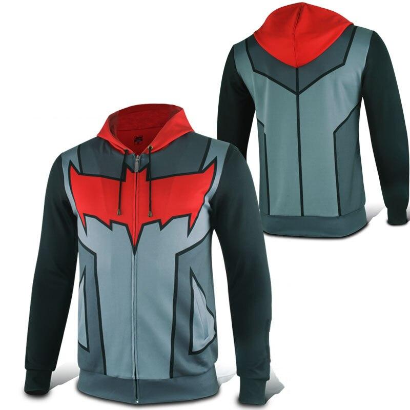 Batman Red Hood Jason Todd Robin Hoodie Superhero Zip up Polyester Mens  Casual Cosplay Coat Sweatshirt 43a5e7955a75