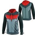 Mens Casual Batman Red Hood Jason Todd Robin Superhero Zip up Polyester Cosplay Hoodie Coat Sweatshirt