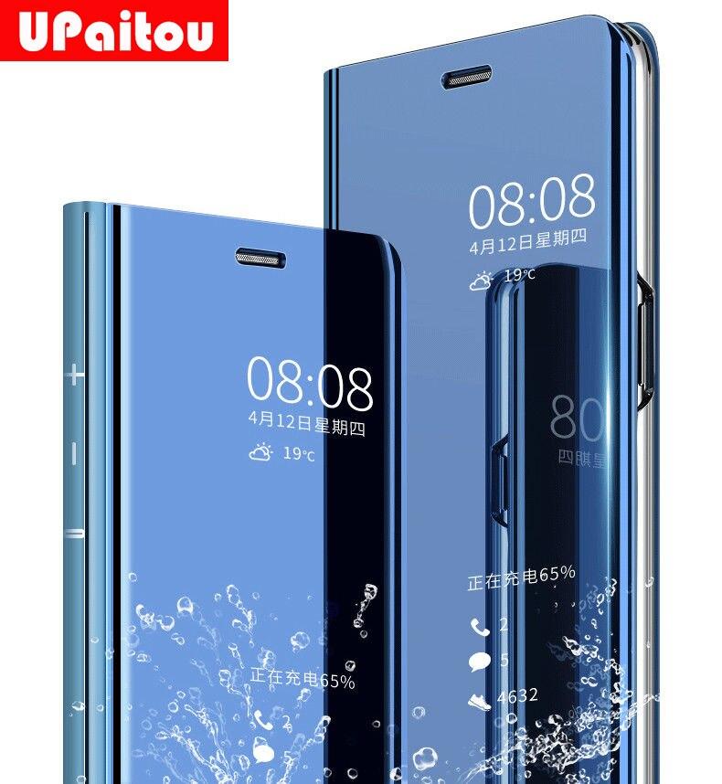 UPaitou espejo vista inteligente caso de la cubierta del tirón PARA EL Huawei Y6 Y7 Y5 primer Y9 2018 Nova 2 Lite 2i 3E Honor 7A 7C 7 S caso de la cubierta
