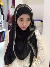2018 Adult quantity Promotion Fashion Muslim Acetate chiffon Headscarf Hijab Veil Malaysia Indonesia printed Hijab Wj130