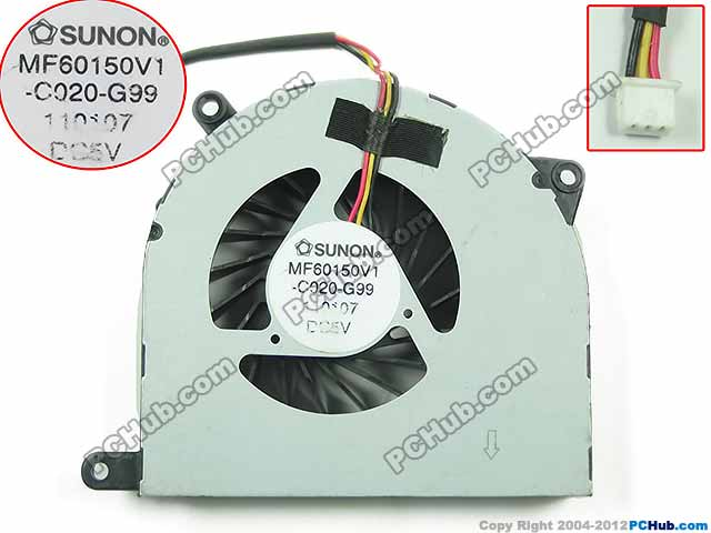 SUNON MF60150V1-C020-G99 Server Laptop Fan DC 5V free shipping for sunon mf75251v1 q000 g99 dc 12v 2 7w 3 wire 3 pin connector 90mm server square cooling fan