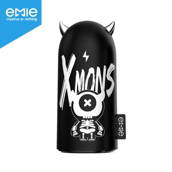 Emie xMonster Funny Portable Charger, 5200mAh Cute Compact Design Power Bank , 2.1A Fast Charging USB Charger with LED Ears Gift