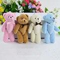 10PCS Super Kawaii 8CM Joint Bowtie Teddy Bear Plush TOY DOLL ; Stuffed TOY Wedding Gift Bouquet Decor DOLL TOY