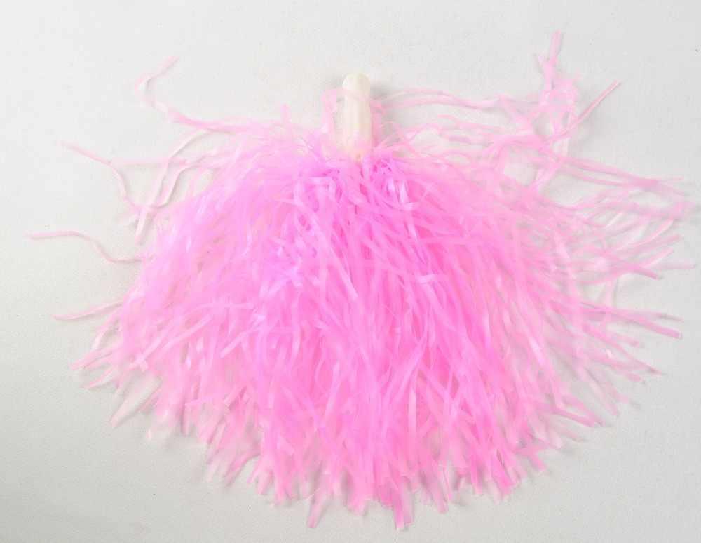 Crianças de 25g de plástico PE cheerleading pompom cheerleader pom pom 9 cor vermelho verde azul amarelo branco rosa roxo ballroom traje
