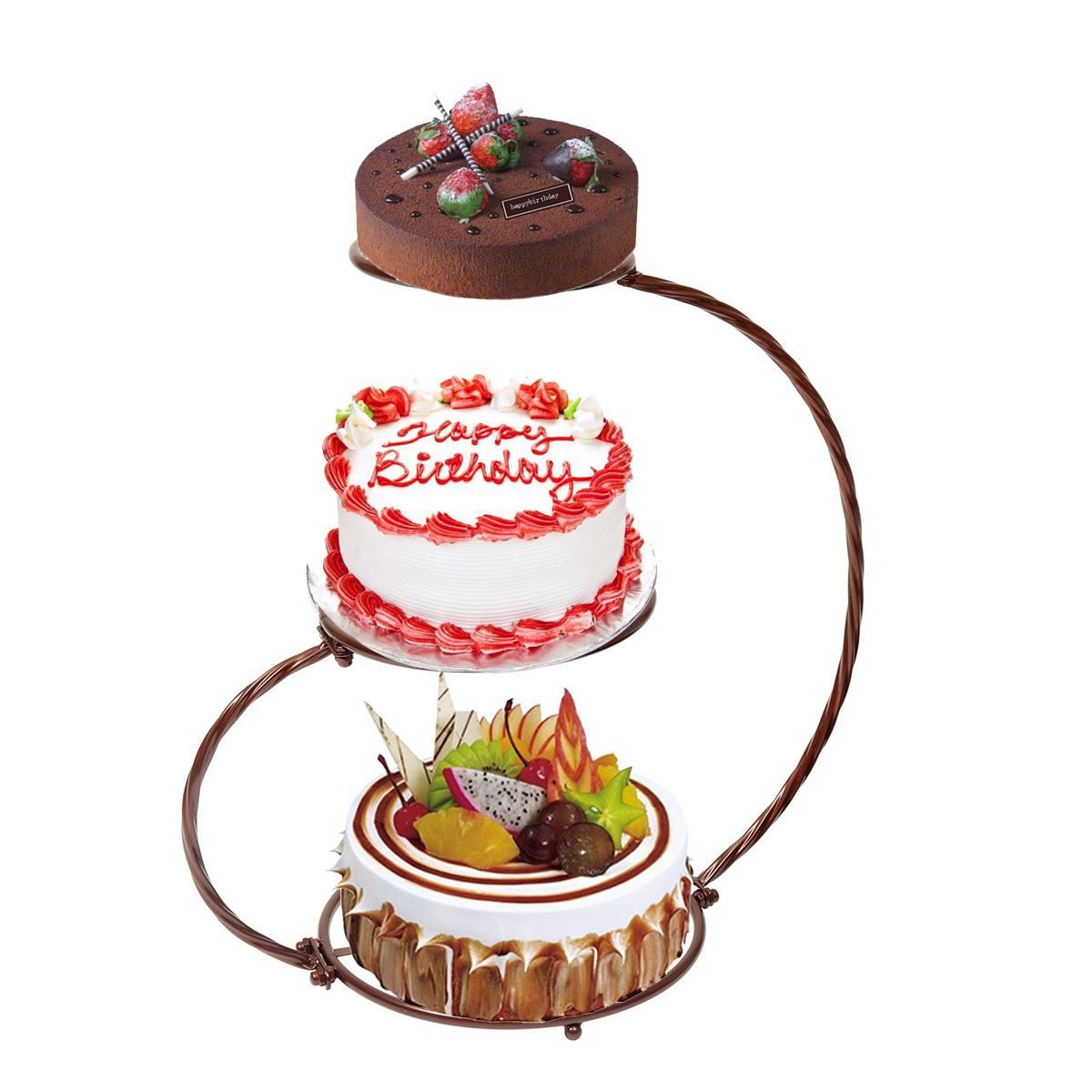 Support à gâteaux décoration pour mariage   4 couleurs, 3 couches, support d'exposition à gâteaux pour fête d'anniversaire, Dessert, Cupcake Cookies, outil de cuisson pour gâteaux de cuisine
