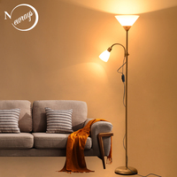 Modern nordic design 2 lights night Floor Lamp stand Living Room adjustable Hotel Lighting E27 LED AC 110V 220V For Bedroom home