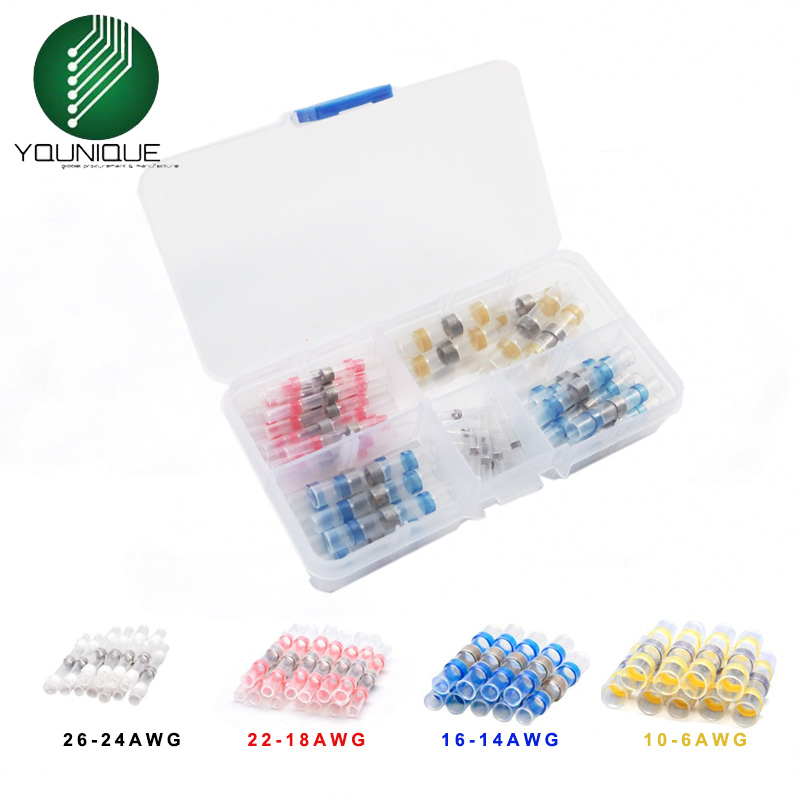 200/100/75/50 Mixed Heat Shrink Sordering Terminals Waterproof Solder Sleeve Tube Electrical Wire Insulated Butt Connectors Kit200/100/75/50 Mixed Heat Shrink Sordering Terminals Waterproof Solder Sleeve Tube Electrical Wire Insulated Butt Connectors Kit