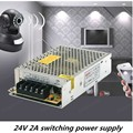 24 В 2A 48 Вт Импульсный Источник питания Драйвера Для Светодиодные Газа Дисплей AC100V-240 В Поставщик фабрики бесплатная доставка