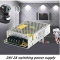 24 V 2A 48 W de Conmutación Conductor de alimentación Para la Tira de Luz LED Display $ number V-240 V Surtidor de la fábrica del envío libre