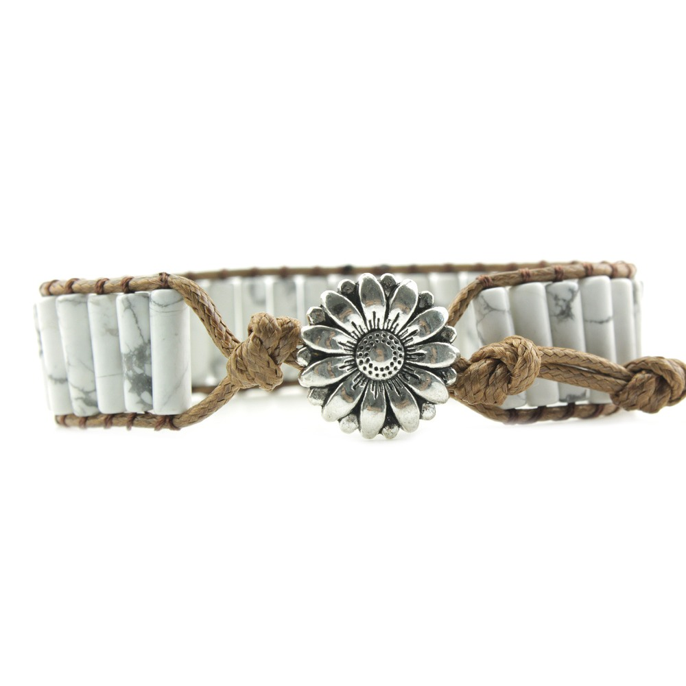 Leather Bracelets Tube...