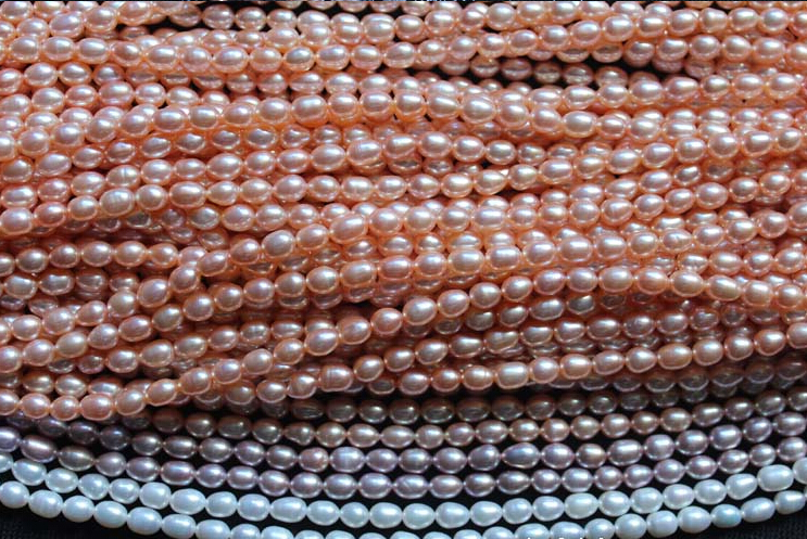 100% Natural Freshwater pearl 1.8mm-3mm highlight Pink pearl 37cm Loose Beads women Jewelry Party Gift