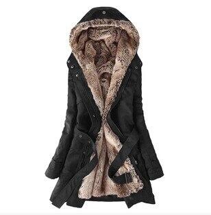 Winter Womens Thicken Warm Coat Hood  Overcoat Long Trench