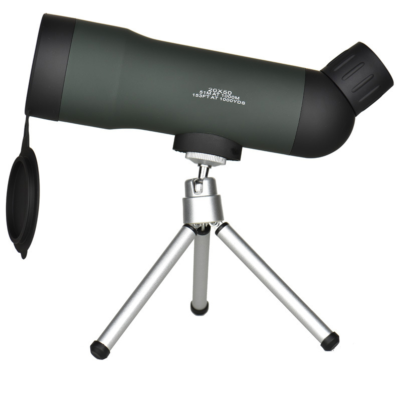 <font><b>20x50</b></font> <font><b>Monocular</b></font> Telescope HD LLL Night Vision Monoculars with Portable Tripod Outdoor Camping Hunting Bird-watching Telescopes image