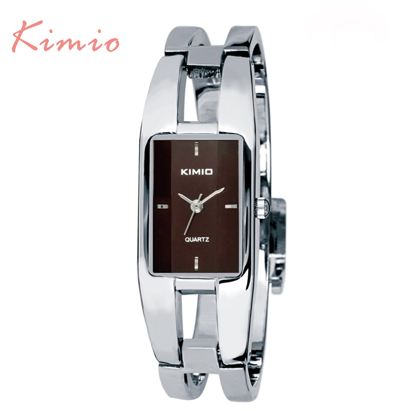 2017 New Fashion Kimio Bangle Dial Stainless Steel Women Quartz Watches Bracelet Quartz watch Woman Ladies Watches Clock Female lace embroidery jeans ripped hole straight harem pants women ankle length pants fashion high waist loose plus size pencil pants