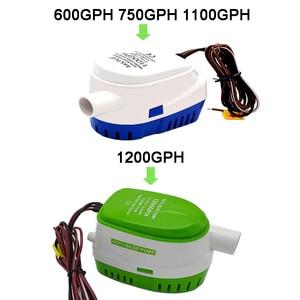 Image 2 - Free shipping,DC 12V/24V 1200/1100GPH Automatic bilge pump,submersible boat water pump,electric pump for boats.Bilge Pump 12v