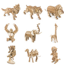 Robotime 3D Puzzle DIY Handmade Plywood Modelo Animal Home Car Decoration 40pcs Tiburón Permanente Dark Sea Beast TG274