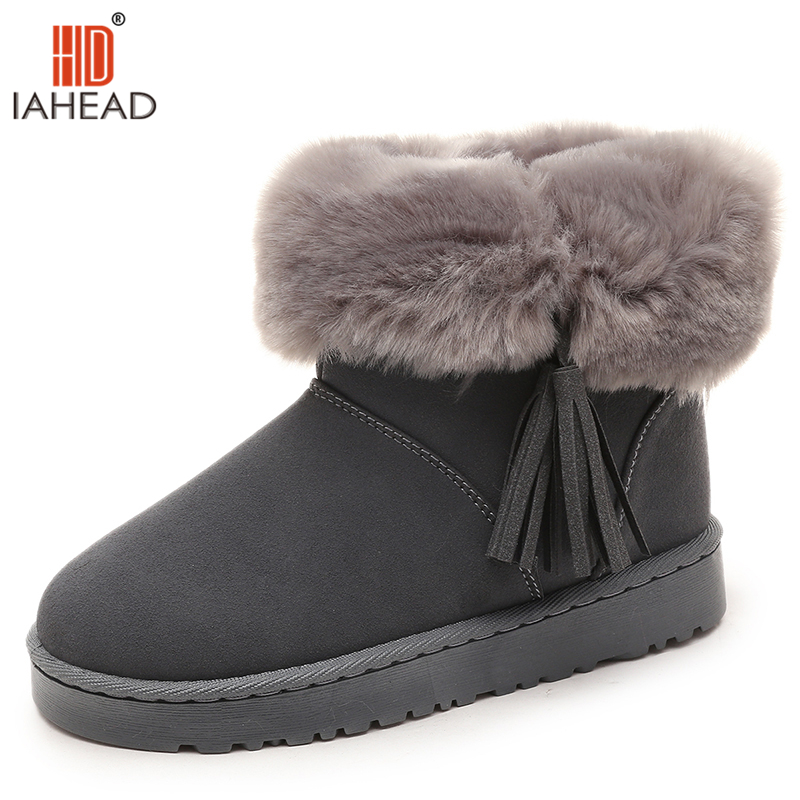IAHEAD women winter shoes women's ankle boots the Brand  fashion casual fashion flat warm woman snow boots UPC357 women winter shoes women s ankle boots the new 3 color fashion casual fashion flat warm woman snow boots free shipping
