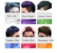 100Pcs Hair color wax dye one time molding paste six colors available BLUE Burgundy grandma gray green hair dye wax