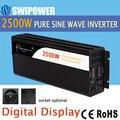 2500W de onda senoidal pura energia solar inversor DC 12V 24V 48V a 110V AC 220V display digital