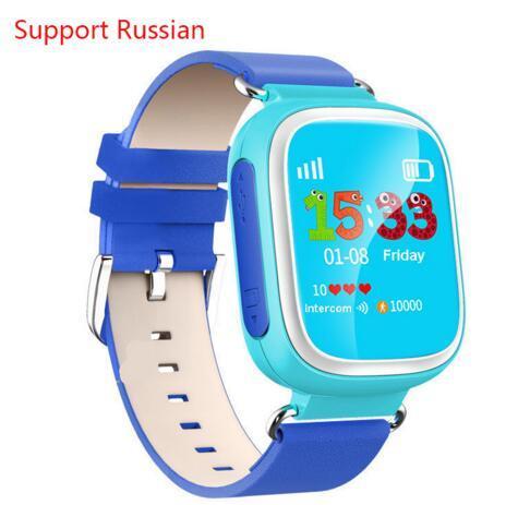 Top garoto gps smart watch relógio de pulso dispositivo de chamada sos localização rastreador para Kid Safe Anti Perdido Monitor Do Bebê Presente Q80 PK Q50 Q60