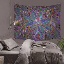 Hippie Mandala Elephant Bedspread Ethnic Throw Wall Blanket Bohemian Psychedelic Decorative Tapestry 150*170cm DH0025