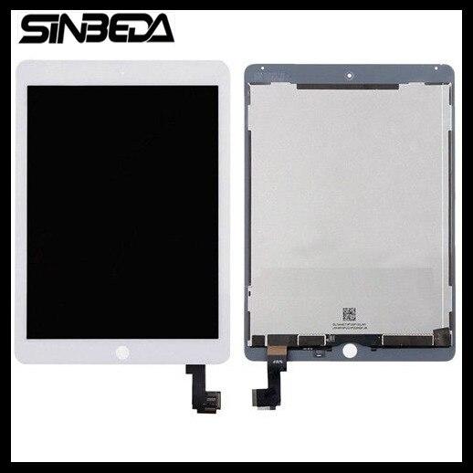 Sinbeda 2048*1536 LCD Voor iPad Air 2 A1567 A1566 LCD Display Touch Screen Digitizer Vergadering voor iPad 6 Vervanging onderdelen