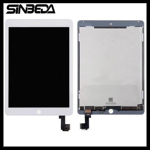 Sinbeda 2048*1536 LCD pour iPad Air 2 A1567 A1566 LCD panneau d'affichage écran tactile numériseur assemblée pour iPad 6 pièces de rechange