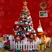 1.5 m / 150cmChristmas tree decorations Christmas Packages school shop luxury encryption red with light emitting