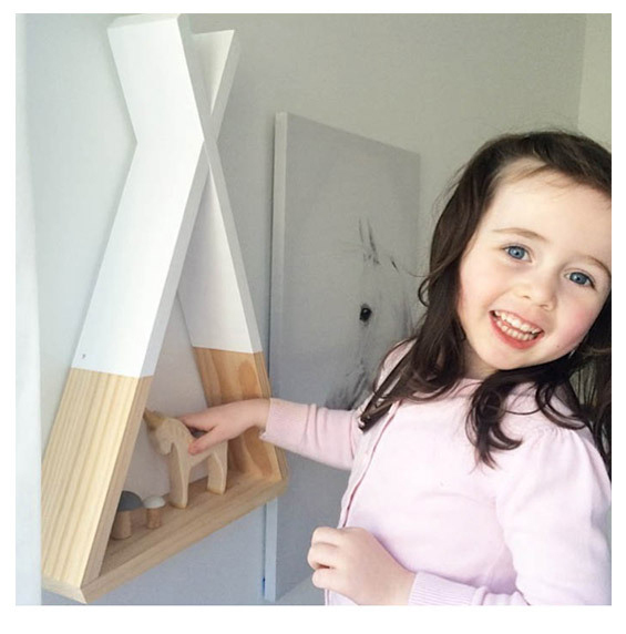 Nordic Nursery Wooden X Hanging Storage Rack For Kids Room Decor Need Assemble by yourself Kids Room Decor Wood Shelf Wall Rack