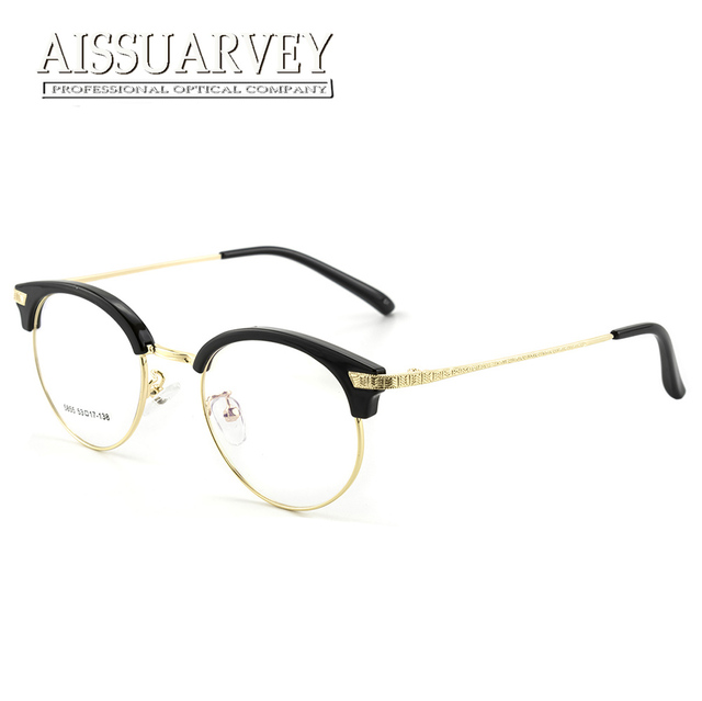 080d3938427 Eyeglasses Frames Women Men Vintage Optical Prescription Round Metal Circle  Reading Computer Myopia Golden Eyewear Goggles