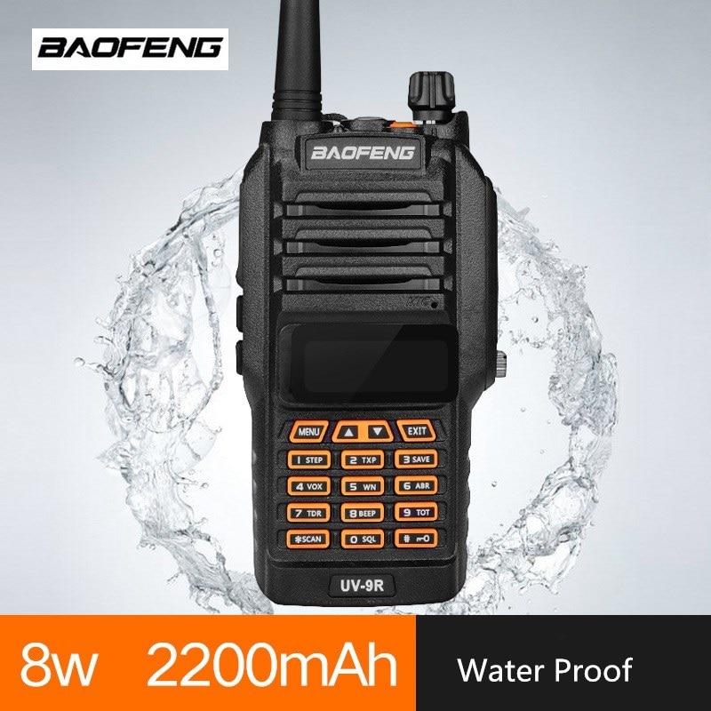 BAOFENG UV 9R Walki Talki Radio 10KM VHF UHF IP67 Waterproof Quad Band Ham CB Radio Communicador Mobile Transceiver Professional