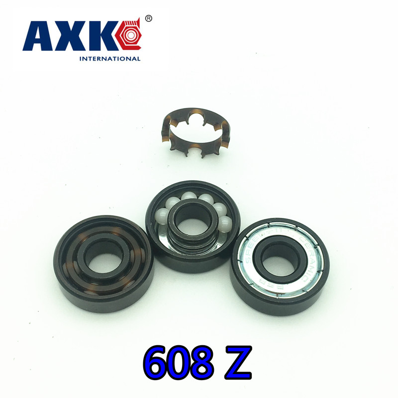 2018 Free Shipping Ceramic Swiss Bsb 608 8*22*7mm Abec11 Hybrid White Zro2 Ball Skateboard Well Bearing Skating Hand Spinner canon pfi 306 black