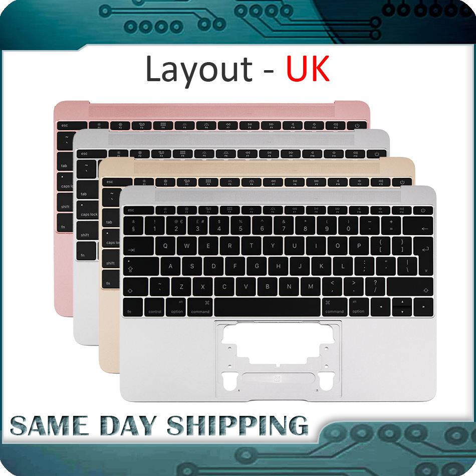 2015 2016 2017 an pour Macbook 12 ''A1534 UK Top Case anglais avec clavier couleur or/gris gris/argent/or Rose