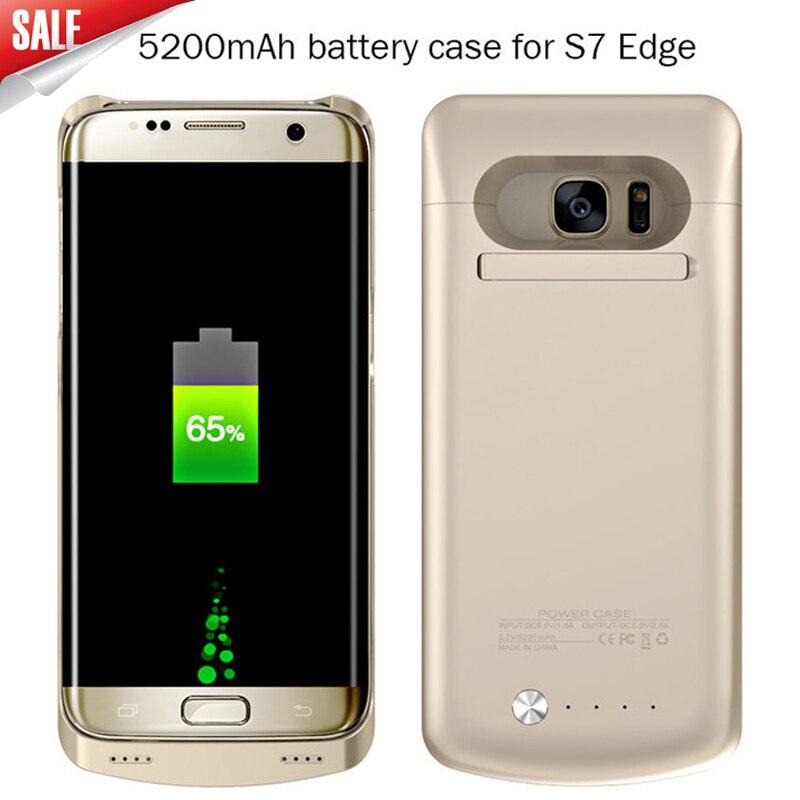 bilder für Energienbank Abdeckung Fall Für Samsung galaxy S7 4200 mAh & S7 rand 5200 mAh Notfall Backup Externes Ladegerät fall