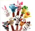 10pcs/bag Plush Animals Finger Set Kid Child Baby Toy Learn & Education Pretend Daily Play Story Telling Free Shipping