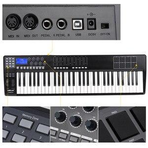 Image 2 - Worlde PANDA61 Di Động 61 Phím MIDI USB Bàn Phím Điều Khiển 8 RGB Nhiều Màu Sắc Backlit Kích Hoạt Miếng Lót Bằng Cáp USB