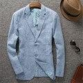 Nova chegada da primavera e do verão moda outerwear ocasional fino terno ocasional terno de linho fino masculino plus size M L XL XXL 3XL 4XL