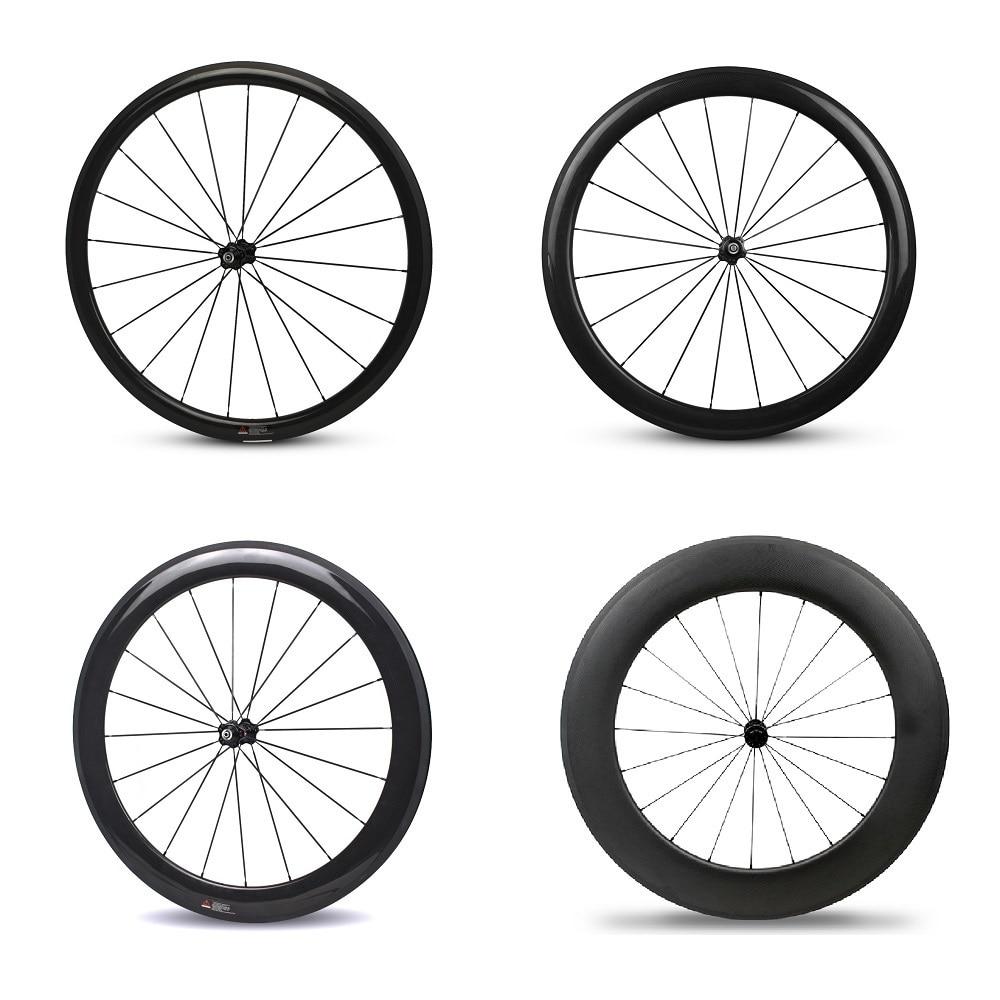 YuanAn carbon road bike tubeless wheels 38mm 50mm 60mm 88mm U-shape rims 700c road bicycle wheelsets carbon wheels 700c 88mm depth 25mm bicycle bike rims 3k ud glossy matte road bicycles rims customize carbon rims