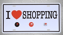 1 pc i love shopping black Friday money rich Store plaques Tin Plates Signs wall man cave Decoration Metal Art Vintage Poster