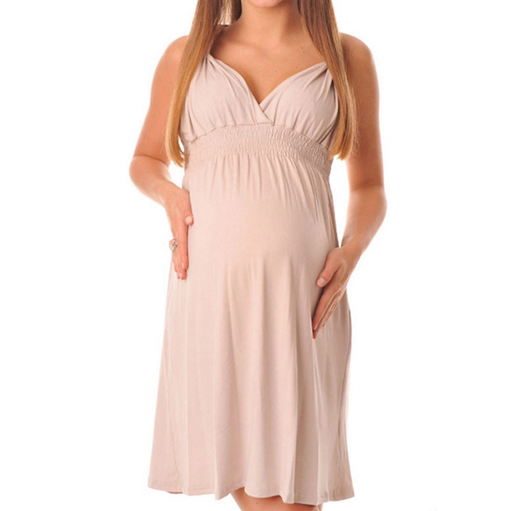 Maternity Dresses Daily Female Sexy Maternity Dress Pregnant Fashion Halter V-Neck Pure Color Sleeveless Female Dress SummerMaternity Dresses Daily Female Sexy Maternity Dress Pregnant Fashion Halter V-Neck Pure Color Sleeveless Female Dress Summer